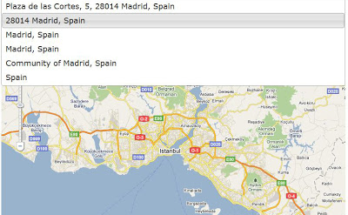 How to use Google map autocomplete location search API with example