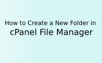 How to Create a New Folder in cPanel File Manager