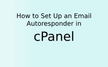 How to Set Up an Email Autoresponder in cPanel