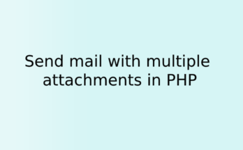 Send mail with multiple attachments in PHP