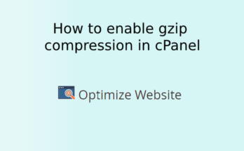 How to enable gzip compression (Apache mod_deflate) in cPanel