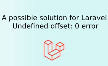 A possible solution for Laravel Undefined offset: 0 error