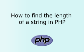 How to find the length of a string in PHP