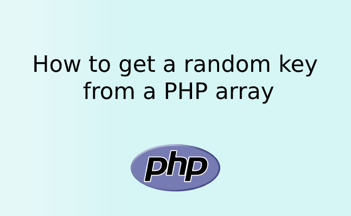 How to get a random key from a PHP array