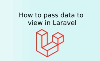 How to pass data to view in Laravel