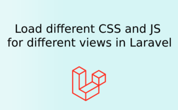 Load different css/js for different views in laravel