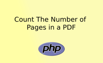Count The Number of Pages in a PDF