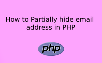 How to Partially hide email address in PHP