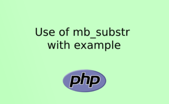 Use of mb_substr with example